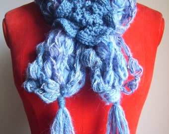Crochet neck warmer scarf