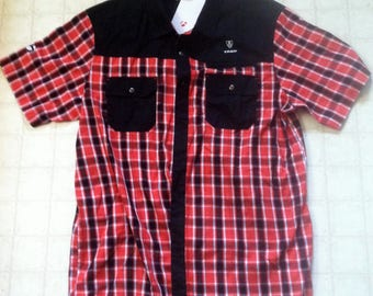 Trek bicycle/Bontrager cowboy plaid shop shirt XL new with tags