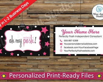 Perfectly Posh Business Cards Printable Digital Printed Personalized Custom Customized Consultant Cards PER-BC105