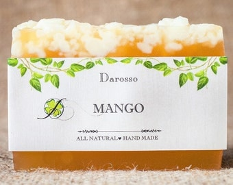 Mango soap, vegan soap, gift for women, homemade soap, natural soap, handmade soap, Gift for him, Gift for her, Luxury Soap, Organic Soap