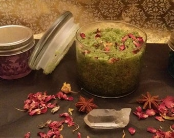 Matcha Rose Salt Scrub