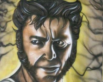 wolverine xmen portrair mural