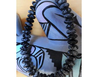 Snowflake obsidian bracelet with magnetic clasp