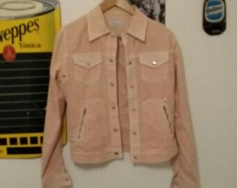 Pink denim jacket  Small size // Chaqueta vaquera rosa t.S
