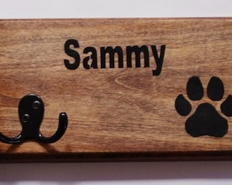 Dog Leash Holder, Personalized dog leash holder, custom name pet leash holder, leash holder, key holder