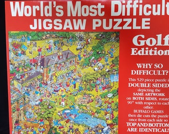 World's Most Difficult Double Sided Jigsaw Puzzle Golf Edition 529 pcs 1991