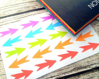 Rainbow planner arrows, Planner markers colourful, Diary arrow stickers, Rainbow arrow labels, Erin condren, Happy planner, Life planner