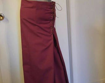 Medieval laced skirt Burgundy Medieval Burgundy Laced Skirt