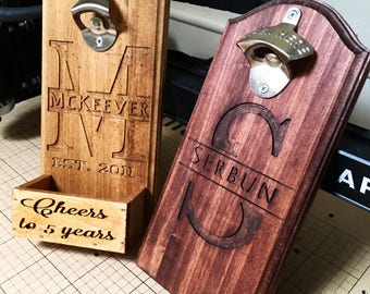 Fully customizable engraved wall mounted bottle opener. 10% of each purchase goes directly to the Shriners Hospitals for Children!!