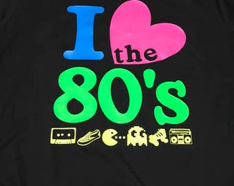 I love the 80's Black V-Nexk Tee