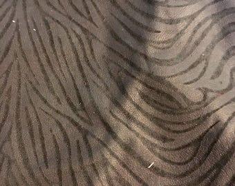 Genuine Leather Skin - Black Zebra-Print Lambskin 2.5 sq ft