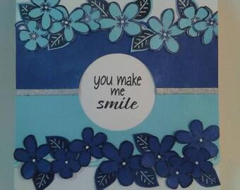 You Make Me Smile Card, Handmade Card, Handmade You Make Me Smile Card, Any Occasion Card