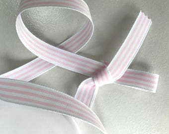 Candy stripe ribbon, bow ribbon, craft , sewing, pink stripey