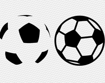 Soccerball ball soccer  SVG Clipart Cut Files Silhouette Cameo Svg for Cricut and Vinyl File cutting Digital cuts file DXF Png Pdf Eps