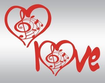 Music Notes svg, Music Hearts svg, Music svg, Music lover's svg, Vinyl, SVG Files, Cricut, Cameo, Cut file, Clipart, Svg, DXF, Png, Pdf, Eps