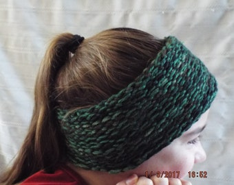 Knitted Winter Headband/Headwrap Camouflage