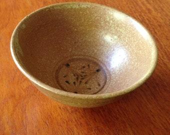 Vintage stoneware pottery bowl
