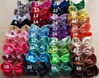 8 Inch Extra Large Bow On Alligator Clip 40 Colours Hair Accessory
