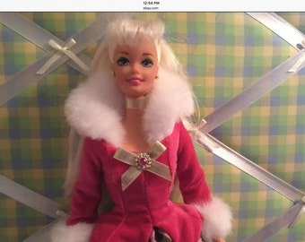 Avon Winter Rhapsody Blonde Barbie