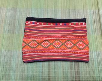 Vintage Handmade Tribal Hmong embroidered cotton money purse