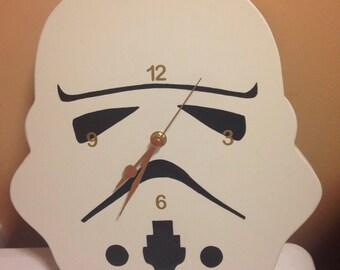Storm trooper wooden clock/wall clock/wooden clock/Star Wars