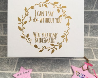 Bridesmaid Box- Decal only! *name in gap to personalise*