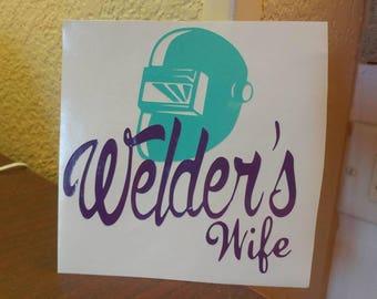 Welders Wife Decal