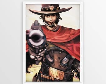 "OverWatch - Mcree High Noon [12""x18""] Art Print"