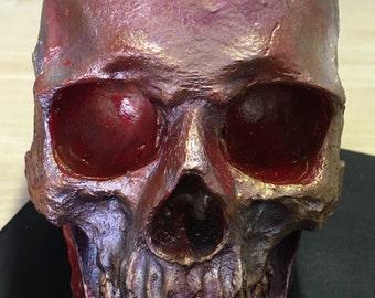 Hand Painted Replica Human Skull Lifesize