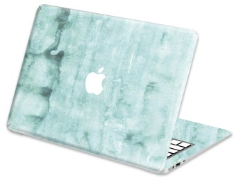 Macbook Skin Watercolor Aqua- full set