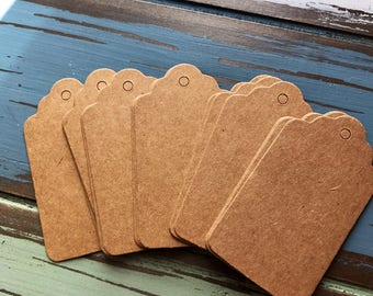 "Brown gift tags blank kraft party wedding labels DIY rectangle 1.5"" x 2.5"" gift tags"