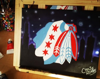 Chicago Blackhawks Skyline