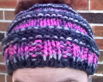 DIGITAL Slouchy Messy Bun Hat Pattern