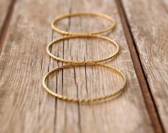 Set of three gold bracelets, Womens Thin Bracelet, gold  bangle bracelet, gold  bracelet, gold bangle,  minimal bracelet