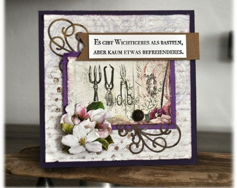 Spell card spell / purple / birthday card / envelope / creative / crafts / greeting card / birthday card / greeting card /