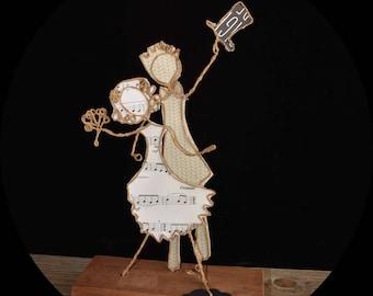 Gift for newlyweds, weddings décoration, wire kraft sculptures, wire kraft figurines, wire art