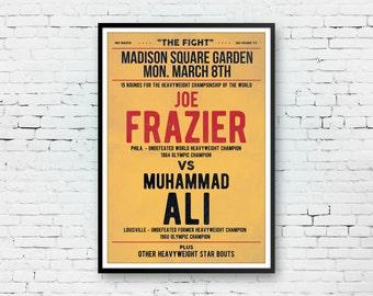 Muhammad Ali, Muhammad Ali Poster, Muhammad Ali Art, Muhammad Ali Print, Boxing Poster, Pop Art Print, Typography Print