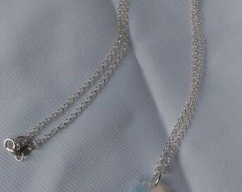 925 Silver chain with swarovski edelweis
