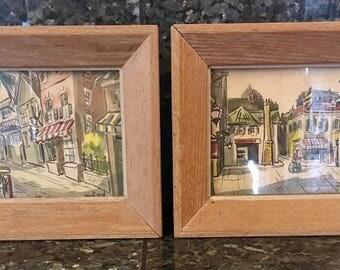 Vintage Pair of John R. Good Prints
