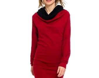 Kolla 4 in 1. long-sleeved. chilli/black