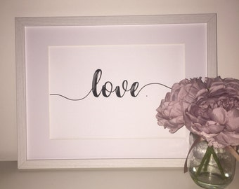 Love Foil Print