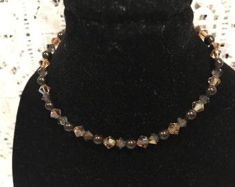 Swarovksi Neutral Pearl & Crystal Set of 2 Bead Bracelets