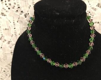 Swarovski Spring Lilac Set of Two Crystal Bracelets