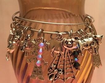 Charlotte's Web Charm Bangle Bracelet