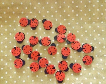 Ladybird Card Embellishments Ladybug Insect Scrapbooking Kids Crafts Paper Craft Supplies