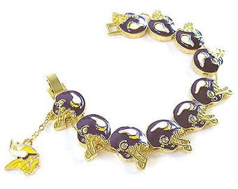 NFL - Minnesota Vikings Gold Charm Bracelet