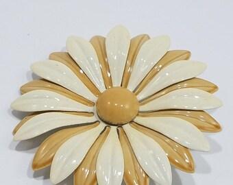 Think Spring!  Beautiful Enameled Flower Brooch