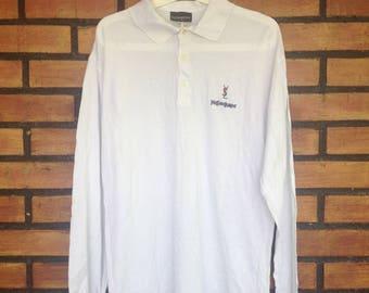 Sale Sale Sale Yves Saint Laurent YSL Longsleeves Polo Shirt