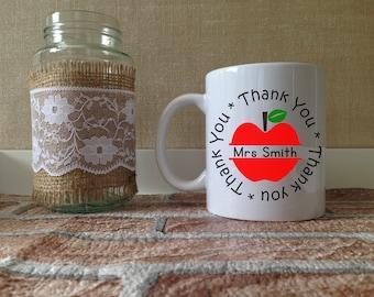 Teacher Personalised Mug - Teacher Gift Present - Tea Coffee Cup - End of term - Teacher Leaving - Thank you - Graduation - School