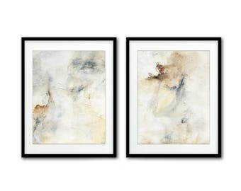 Set of 2 digital prints printable art instant download wall decor diptych prints abstract digital print painting modern artwork home decor